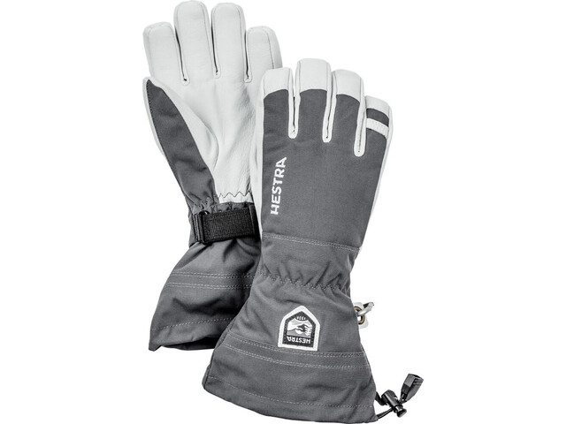 Hestra Army Leather Heli Ski Guanti, grey
